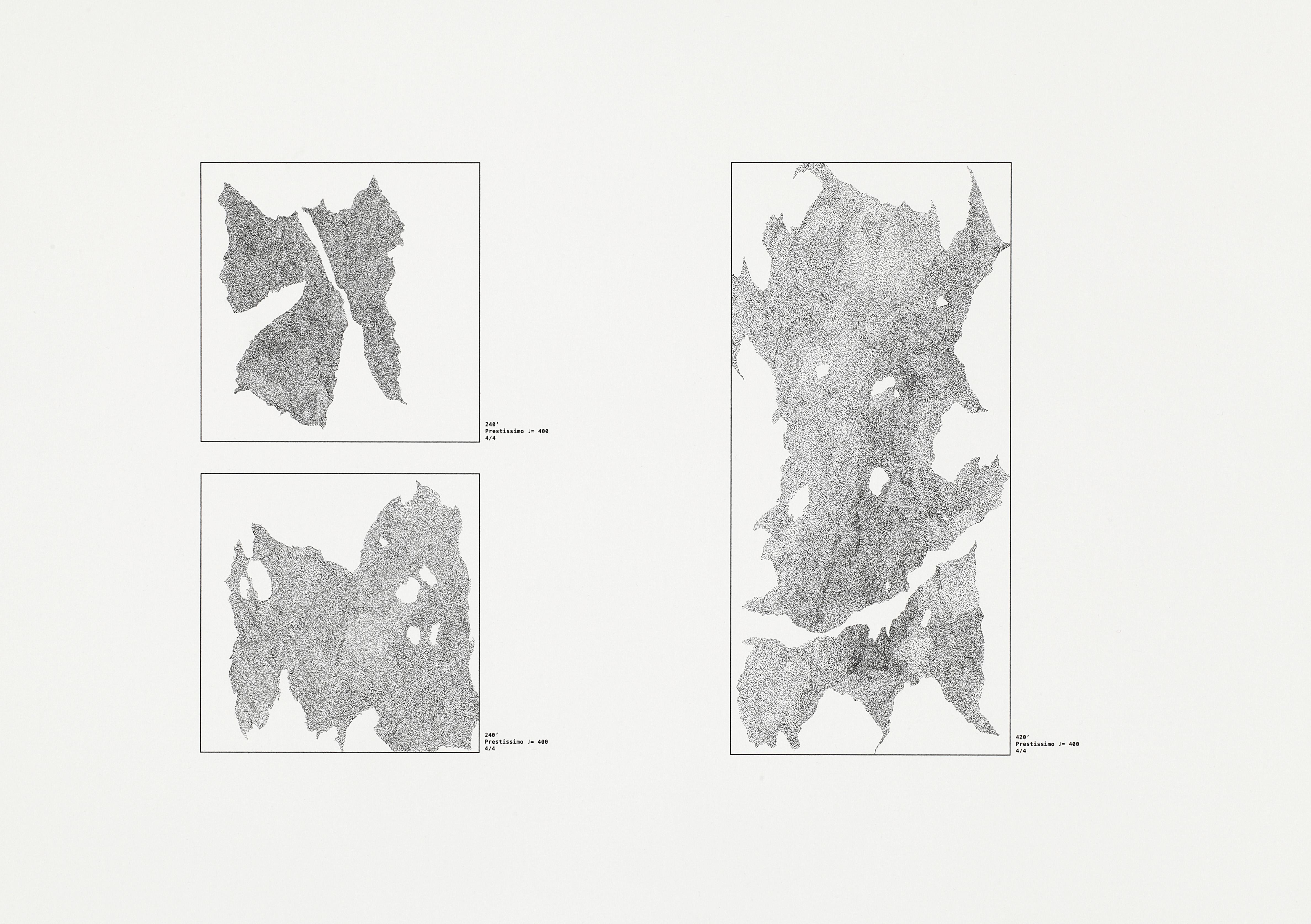 dessin_au_métronome_protocol 2, feutre pigmentaire et métronome sur papier cotton, 31cm×41cm, 2016